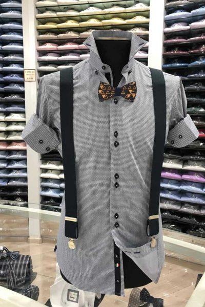 camicia fantasia blu_novità primavera 2019